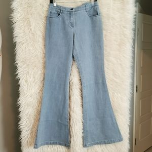 THEORY bell bottoms jeans 6 28 flare pants hippie